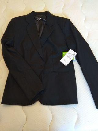 Traje chaqueta negro zara