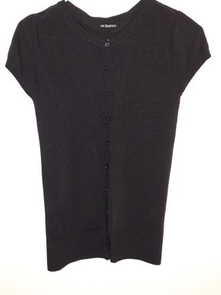 chaqueta negra BLANCO