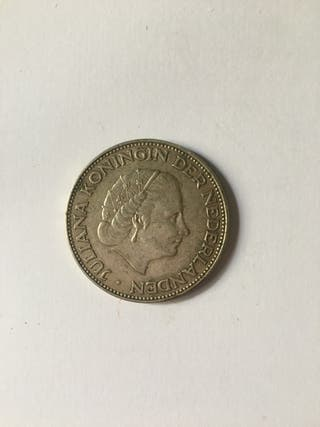 Moneda antigua de plata Holanda 2 1/2 gulden.