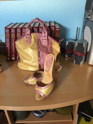 Conjunto bolso y zapatos