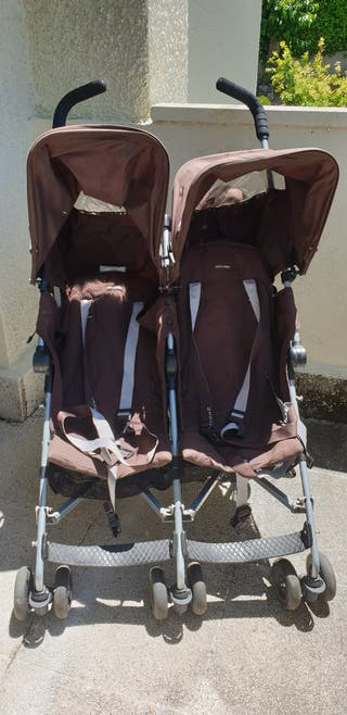 Carro Gemelar. Silla Doble. Twin MacLaren