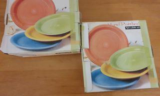 """Vendo 2 cajas de platos (8) de postre """"Nuevos"""""""