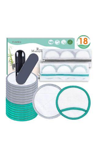 Pack 18 discos desmaquillantes reutilizables