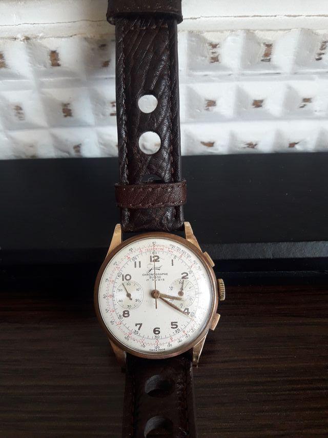 reloj de oro 18k cronógrafo suisse