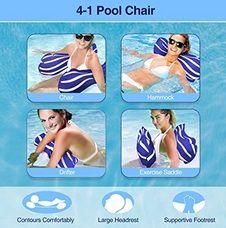 Colchoneta hinchable hamaca para playa, piscina