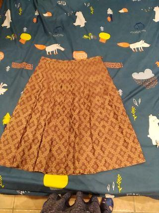 Falda plisada de la casa Trucco
