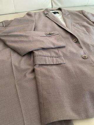 Traje gris dos piezas H&M