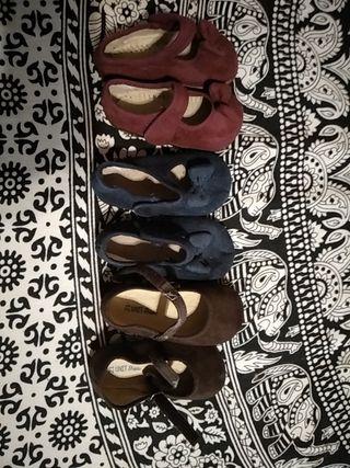 Zapatos bebé manoletina talla 21