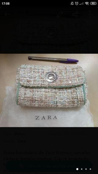 Detalles acerca de Zara Mujer Gris Topo Monedero Bolsa De Cuero De Vaca Ocultar mostrar título original