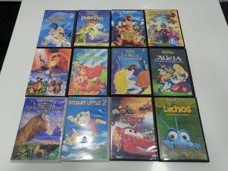 Dvds infantiles originales y grabadas