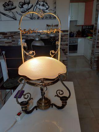 pareja de lampara silla