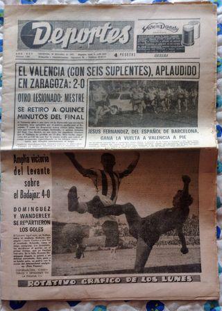 Diario Deportes del dia 20 de diciembre de 1965