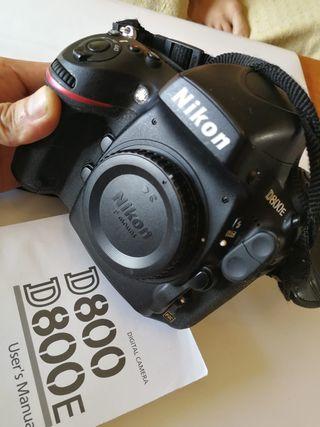 Cámara fotografía Nikon profesional D800E