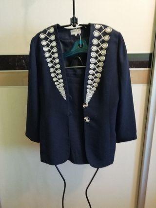 Traje de falda y chaqueta, color Azul marino