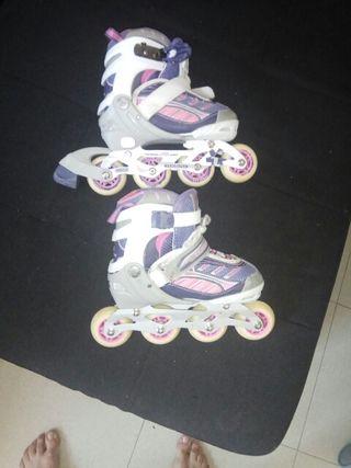 patines en linea talla 31 32 33 34 y casco