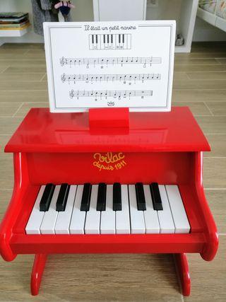 Vilac - Piano con partituras color rojo