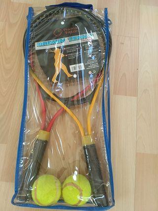 pack de raquetas de tenis + pelotas