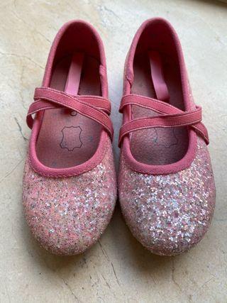 Zapatos de purpurina rosa de piel T.28 nuevos