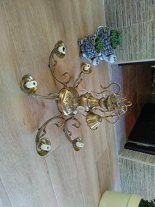 Lampara de bronce vintage