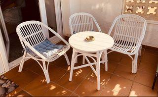 Juego sillones y mes jardin no negociabe