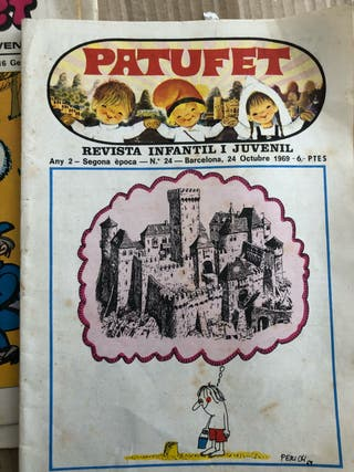 Pack 5 Revista antigua patufet año 1970
