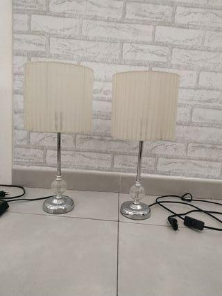 Lámparas de mesitas de noche y lámpara de techo