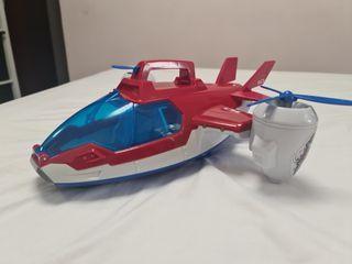 Avión, elicoptero, juguete Niño