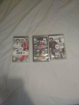 Videojuegos PSP Fifa 11 Pes 11 Fifa 13