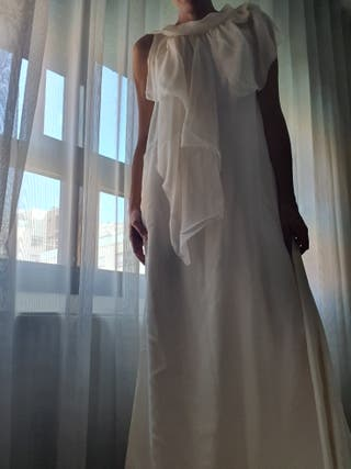 vestido largo nuevo ( invitada ó novia) 100% seda