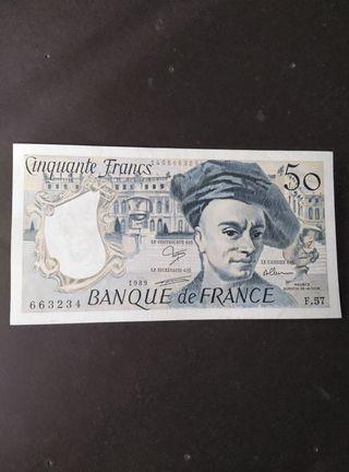 Francia 50 francos de 1989.