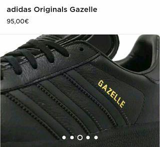 adidas gazelle piel negras