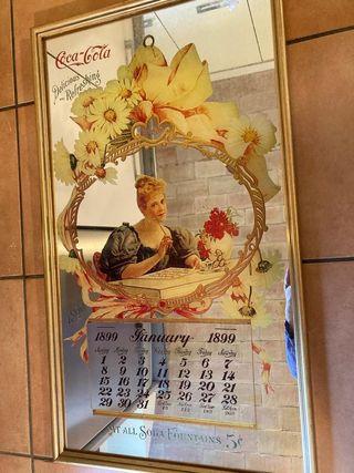 REBAJADO Cuadro espejo calendario Coca Cola