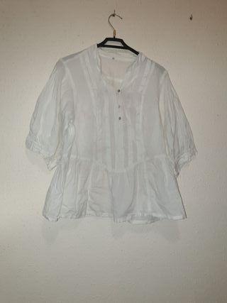 #bluson#blanco#T/M#ancho#cintura#manga#veraniego#