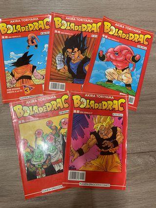Lote de 5 cómics bola de drac
