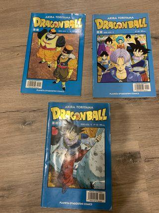 Lote de 3 cómics dragón ball serie azul