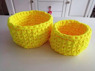 cestos de trapillo nuevos.. hechos con amor