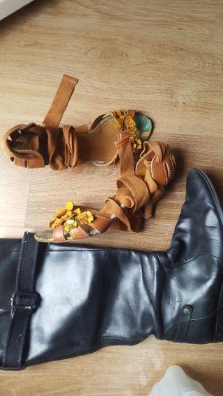 zapatos mujer miss sixty y botas g-star raw