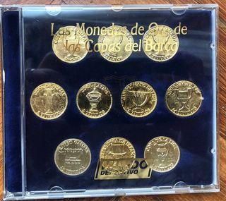 Monedas de oro de las Copas de Europa del Barca