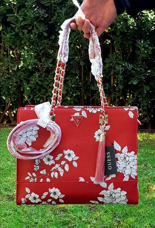 Bolso Satchel Guess. Original. Floral