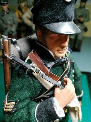 1/6 escala soldado napoleónico inglés.