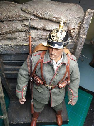 1/6 escala soldado aleman ww1