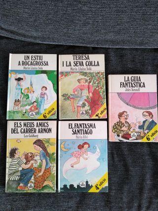 Pack de 5 libros juveniles Ed.La Xarxa en catalán.