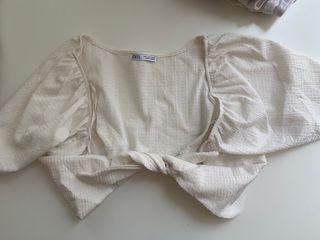 Top blanco Zara