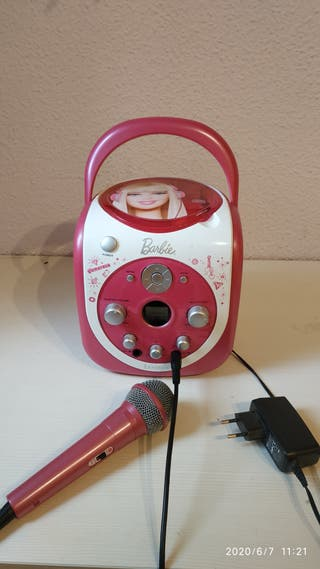 Reproductor CD+ micrófono Barbie