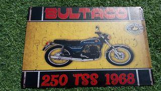 chapa cartel metálico retro vintage reproduccion