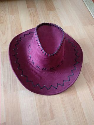 Sombrero cowboy color granate