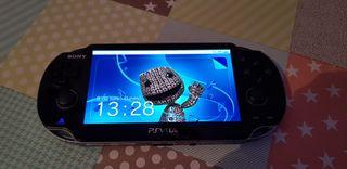 PSP vita + juegos + cable de carga