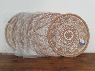 NUEVO- Manteles individuales circular fibra 38 cm