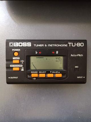 Afinador metrónomo BOSS TU-80