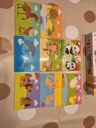 Puzzle animales + 2 años
